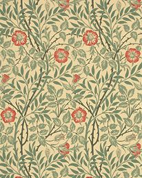 Tapetorama - Tapet 81155: Sweet Briar Green/Rust från William Morris & Co