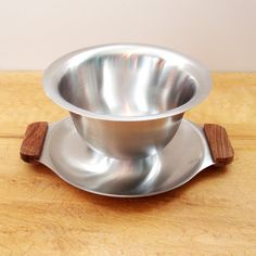 Danish Modern Stainless Gravy Bowl  Stainless by Flourisheshome