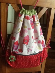 Fabric backpack.