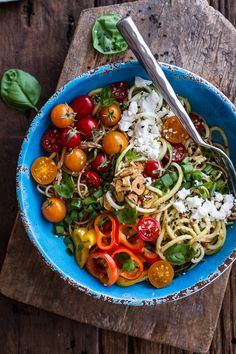 Farmers Market Sesame Miso Noodle Bowls with Garlic Chips