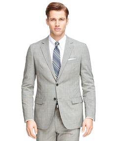 Fitzgerald Fit BrooksCool® Plaid SuitBlack-White