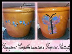 Baby feet Butterfly Flower pots! EXTRA!! EXTRA!! Join my group on FB NOW to get in on a very special CASH CONTEST running through the month of April! Click here to join and read details in the pinned post!  JOIN HERE www.facebook.com/groups/skinnywithkelly