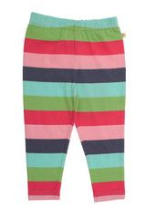 These perfect little multi coloured leggings can bring spring time joy to the plainest of outfits and will be a everyday favourite in any wardrobe. Their comfortable elasticated waist and hint of elastane mixed with super soft organic cotton prevents any baggy knees, making them quite simply irresistible. Made with Organic Cotton.