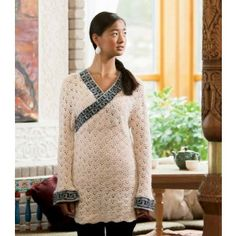 Great Wall Crocheted Pullover Pattern | InterweaveStore.com