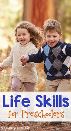Discover the essential Life Skills your child needs to be successful in life. Free printable list of Life Skills for Kids - preschool to teen.