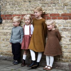 Gotta find me a Scandinavian man. Those babies are named Olav, Ingeborg, Sunniva, and Olga. Toddler Dress, Baby & Toddler Clothing, Baby Dress, Knitting For Kids, Baby Knitting, Baby Girl Fashion, Kids Fashion, Scandinavian Baby, Work Tops