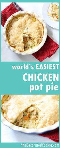 rotisserie chicken meal: easy chicken pot pie -- lots of shortcuts make this an easy dinner -- with video how-tos (Chicken Meals Easy) Easy Pie Recipes, Entree Recipes, Easy Chicken Recipes, Cooking Recipes, Dinner Recipes, Drink Recipes, Healthy Recipes, Simple Recipes, Turkey Recipes