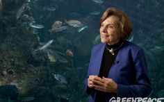 Dr. Syliva Earle - an oceanographer, explorer, author, lecturer, field researcher, scientist, government official, director of corporate and non-profit organizations. She's the former chief of scientist at NOAA, founder of Deep Ocean Exploration and Research, Mission Blue and SEAlliance. She loves the earth and I love her!