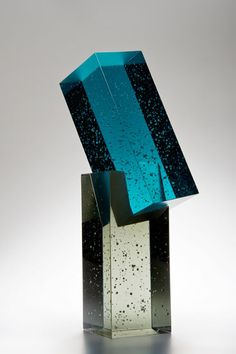 Heike Brachlow - Synthesis V, cast glass, 10.125 x 4 x 4.5 inches