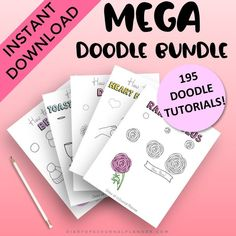 Doodle Tutorial with step by step instructions. Doodles, doodles easy, doodles tekenen, doodles drawings, doodles zentangles, doodles art, doodles for bullet journal, doodles easy simple. #doodles Happy Doodles, Bujo Doodles, Cool Doodles, Simple Doodles, Easy Doodle Art, Doodle Ideas, Doodle Drawings, Easy Drawings, Drawing Skills