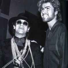 George Michael and Sir Elton John