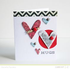 Card by Danielle Flanders  Homespun with Heart: Studio Calico Block Party kits...