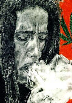*Bob Marley* More fantastic paintings, pictures and videos of *Bob Marley* on… Bob Marley Painting, Bob Marley Art, Damian Marley, Cannabis, Eminem, Bob Marley Smoking, Bob Marley Pictures, Bob Marley Hd Images, Dope Wallpapers