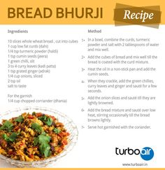 Learn how to prepare #Bread #Bhurji #Recipe with less #ingredients by following step by step method.