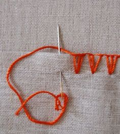 chevron stitch how-to