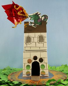 Launch some pull-string dragon fireworks from the top of your castle!