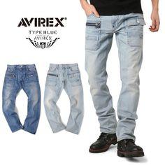 AVIREX アビレックス TYPE BLUE 6156094 ジップ ブッシュパンツ