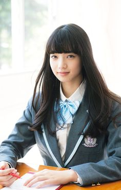 Nana Komatsu for Bakuman movie live action Cute School Uniforms, School Uniform Girls, Nana Komatsu Fashion, Komatsu Nana, Japanese Photography, Innocent Girl, Japan Girl, Girls Life, Girl Crushes