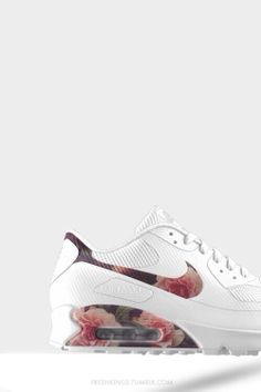 airmax 90 hyperfuse #white #floral #customized