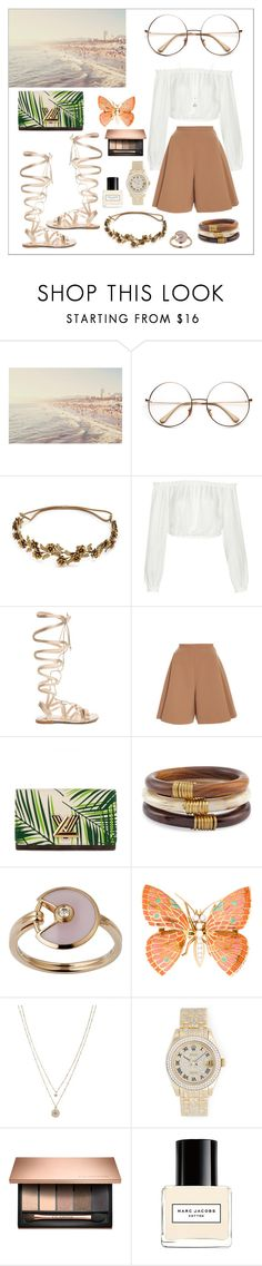 """""""Bez naslova #162"""" by theoryoffashion ❤ liked on Polyvore featuring Jennifer Behr, Elizabeth and James, Gianvito Rossi, Delpozo, Louis Vuitton, Chico's, Cartier, LC Lauren Conrad, Rolex and Marc Jacobs"""