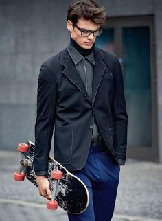 Male Fashion Trends: Filip Hrivnak para Elle Man República Checa Fall/Winter 2015