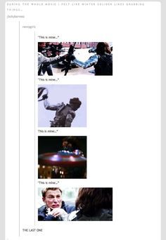 Bucky you can't own friends it's not nice. And everything can't be yours!