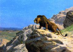The Athenaeum - Lion on the Watch (Jean-Léon Gérôme - )