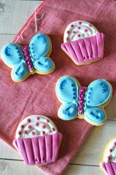cupcakes y mariposas, ñam!!