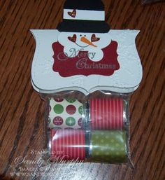 Snowman Punch Art Candy Treat Bag  Holiday Mini