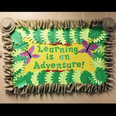 Learning is an adventure! Jungle theme bulletin board