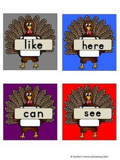 FREE Thanksgiving Turkey Sight Word Hunt