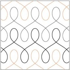 free motion quilting waiting for this to go on sale i like the way the rows merge there is a skinnier and a fatter loop but this one is perfect