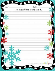 FREEBIE for the classroom Winter Writing prompts  simply sprout