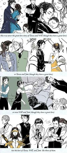 Great love story of all three of them♡ #TessaGray #WillHerondale #JemCarstairs