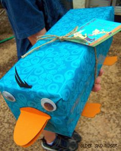 Perry the Platypus and lots of other gift wrap ideas for kids birthday presents