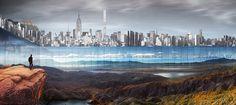"""Sunken """"sidescraper"""" bordering New York's Central Park wins skyscraper competition"""