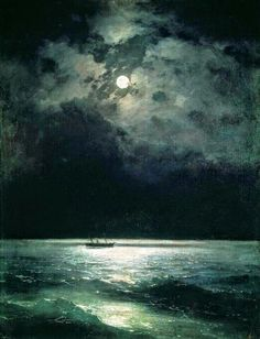 The Black Sea at Night by Ivan Alvazovsky 1879.