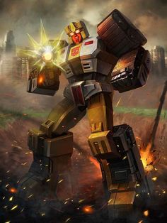 Technobot Nosecone Artwork From Transformers Legends Game