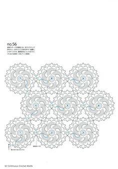 "Photo from album ""Continuous Crochet Motifs on Yandex. Crochet Motifs, Crochet Circles, Crochet Square Patterns, Crochet Art, Crochet Diagram, Crochet Squares, Thread Crochet, Crochet Dolls, Crochet Stitches"