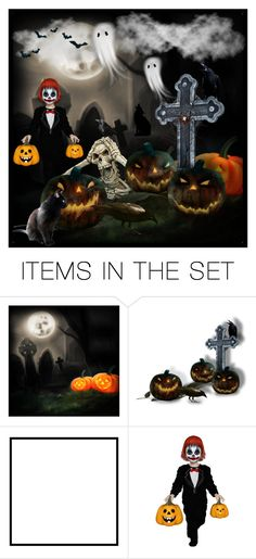 """""""Happy Halloween!"""" by purplerose27 ❤ liked on Polyvore featuring art"""