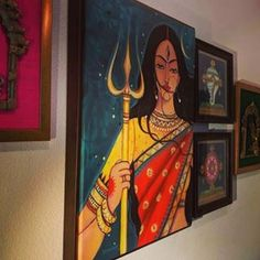 Indian Art Paintings, Journalling, Art Drawings, Disney Characters, Fictional Characters, Hand Painted, Photo And Video, Disney Princess, Videos