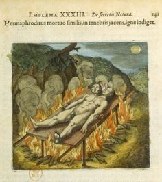 Alchemical drawings by Michel Maier- Atalanta Fugiens, 1618 -National Library of France