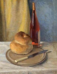 """Thomas Henslow Barnard, """"Cottage Loaf and Vin Rose,"""" (1976)"""
