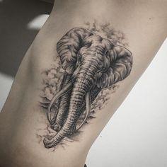 Elephant Tattoo by tattooer_intat für elefantentattoos 90 Magnificent Elephant Tattoo Designs Baby Tattoos, Head Tattoos, Family Tattoos, Body Art Tattoos, Small Tattoos, Crow Tattoos, Phoenix Tattoos, Ink Tattoos, Couple Tattoos