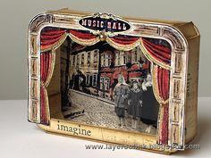 Cigar Box Dioramas Best Of Parisian Peep Show Paper theatre Diorama Shadow Box – diorama Altered Cigar Boxes, Altered Tins, Altered Art, Shadow Box Kunst, Shadow Box Art, Tunnel Book, Vitrine Miniature, Peep Show, Toy Theatre
