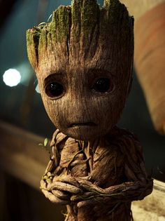 When I look at Baby Groot I see myself at the age of five. And considering the fucked up family I grew up in - it's no wonder I went from being Baby Groot to Rocket Raccoon. *Sigh* - at least my Baby Groot self managed to survive in there somewhere. Marvel Dc Comics, Marvel Avengers, Marvel Heroes, Groot Avengers, Marvel News, Baby Groot, Gardians Of The Galaxy, Guardians Of The Galaxy Vol 2, Superman