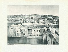 """Jerusalem"" Text photograph made ​​from a painting of Jerusalem published by Selmar Hess in New York, ca Antique Prints, Palestine, Jerusalem, Photograph, York, Antiques, Painting, Photography, Antiquities"