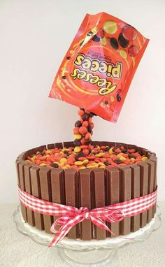 Reeses pieces kit kat cake. #partyfood2go