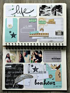 Family Diary... 2 doubles pages