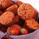 Strawberry Muffins Recipe - very tasty, I replaced butter with plain applesauce, added 1/4 tsp cinnamon, and sprinkled the tops with cinnamon sugar.